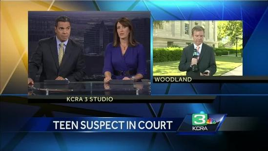 Davis teen homicide suspect makes court appearance