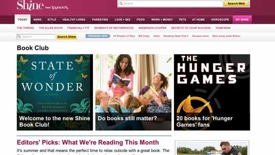 Shine launches online book club