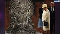 Queen Elizabeth Takes A Good, Long Look At The Iron Throne