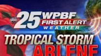 Tropical Storm Arlene Update