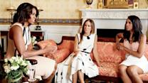 Glamour Cover Shoots - Watch Kerry Washington, Sarah Jessica Parker, and Michelle Obama Meet at The White House for Glamour's May Cover Shoot