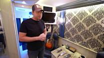 Country Star Rodney Atkin's 'Rolling Hotel Room' Tour Bus