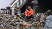 "Bosnian flood victim: ""There's no road, no water, nothing is left"""