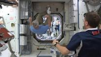 Astronauts on the International Space Station join the World Cup frenzy