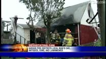 Garage fire damages car, guns, antiques