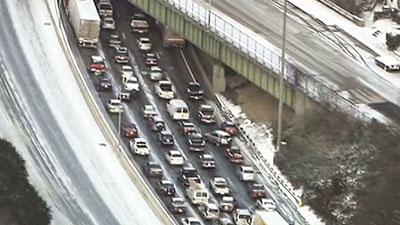 Storm Snarls Traffic Across the South