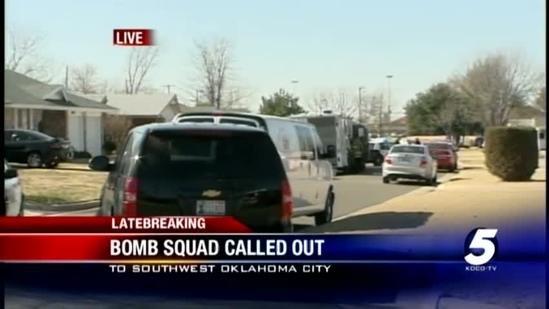 Bomb squad called to SW Okla. City neighborhood