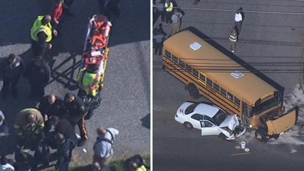 8 hurt in Burlington Twp. school bus crash (PHOTOS)