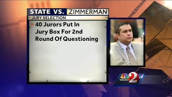 George Zimmerman's defense ready to question 40 potential jurors