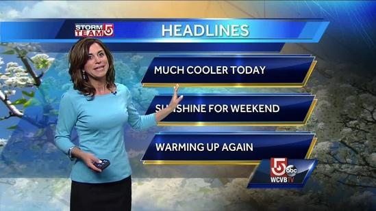 Get Cindy's latest Boston-area Friday forecast