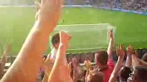 Little Kid Leads Soccer Chant!