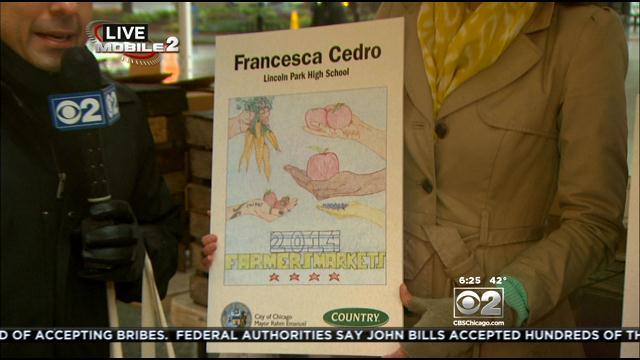 Vince Previews Daley Plaza Farmers' Market