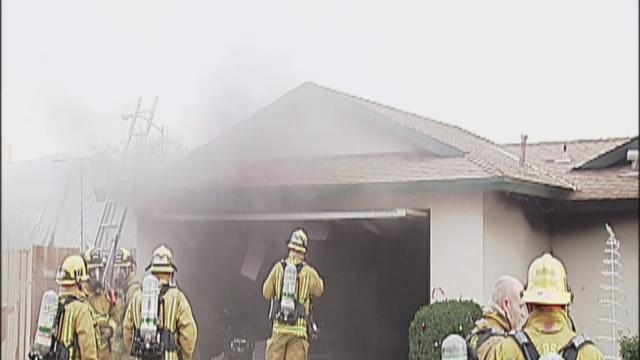 Neighbor injured while helping with fire