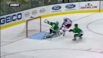 Rick Nash dekes around Lehtonen for PP goal