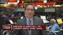Big drop in jobless claims, down 43,000 to 265,000