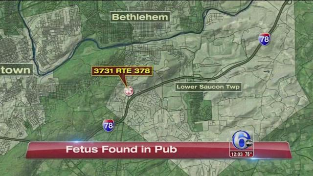 Fetus discovered at Northampton County restaurant