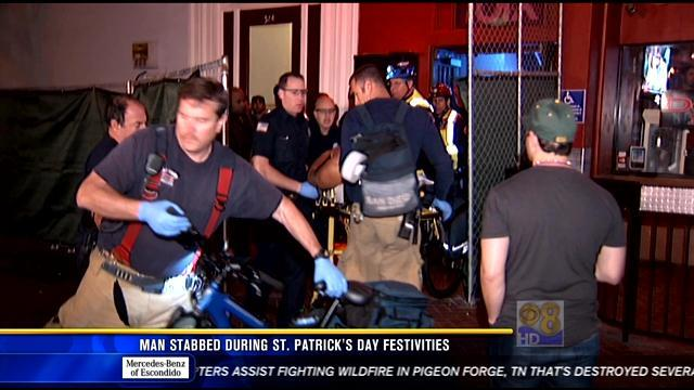 Man stabbed during St. Patrick's Day festivities