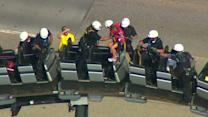 Eight rescued from stuck roller coaster in Oklahoma City
