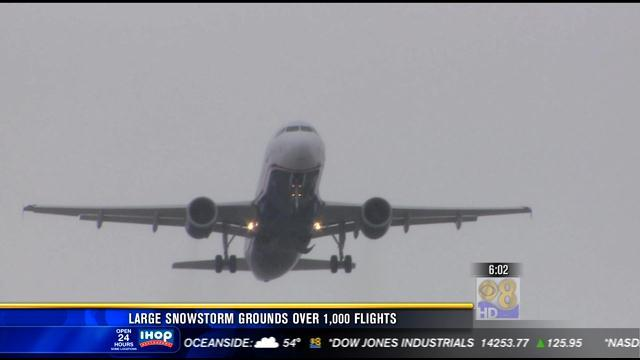 Large snowstorm grounds more than 1,000 Flights
