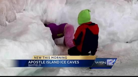 People from around the world visit Apostle Islands ice caves