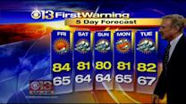 Meteorologist Bob Turk Has Your 5 Day Forecast