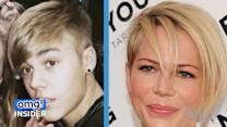 Justin Bieber vs. Michelle Williams: It's a Hair Battle!