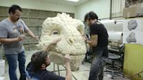 How to Make a Giant Creature - Find Out What it Takes to Sculpt a Giant Dragon-Inspired Character Head