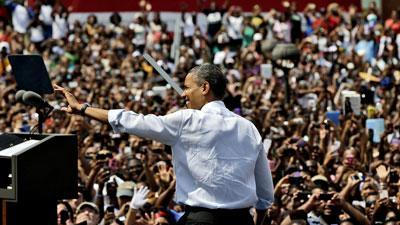 Obama's 'Road to Charlotte' tour ends in Norfolk