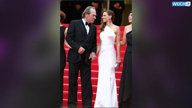CANNES WATCH: Hilary Swank's Versace Stunner