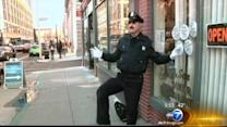 Dancing cop stops holiday traffic in Rhode Island