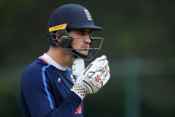 Alex Hales during a training session