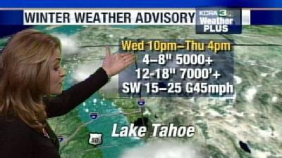 Snow Possible In Foothills