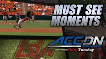 Boston College SS Johnny Adams Ridiculous Catch vs VT | ACC Must See Moment