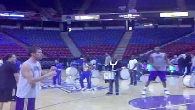Kings Shoot Around Before Clippers Game