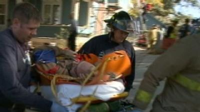 Man Collapses On Roof; Crews Perform Rescue