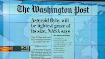 Headlines: Asteroid fly-by