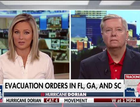 Sen  Graham hoping for 'glancing blow' from Dorian, calls for  declassification of FISA abuse probe documents