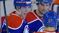 Eberle dishes to Nugent-Hopkins on goal