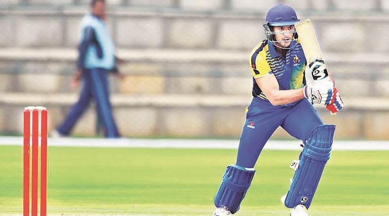 Mayank Agarwal, Mayank Agarwal batting, Mayank Agarwal runs, Mayank Agarwal Karnataka, Ranji Trophy 2017/18, Syed Mushtaq Ali trophy, Vijay Hazare trophy, sports news, cricket, Indian Express