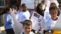 Children march to stop the violence in Chicago