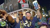 Raw: Bourbon St. Comes Alive After Super Bowl