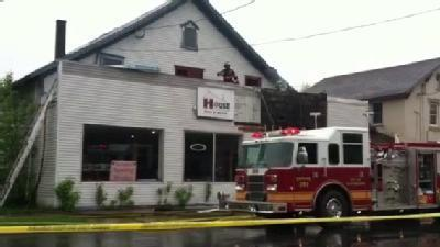 Raw Video: Possible Electrical Fire In Plattsburgh