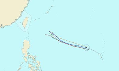 潭美颱風走哪邊 一張圖看懂