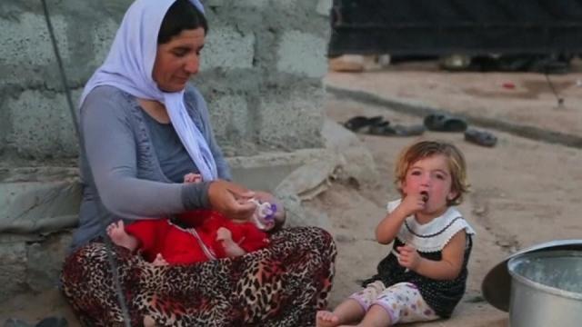 Yazidi refugee: Islamic State took women