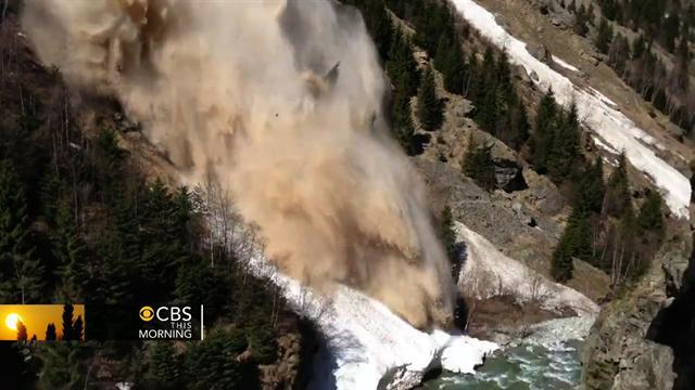 French Alps avalanche caught on video