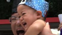 Sumo Wrestlers Make Babies Cry for a Cause