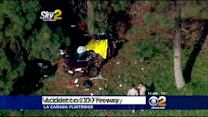 Car Crashes Into Tree Off 210 Freeway In La Cañada; Driver Killed
