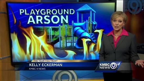 Neighbors saddened by fire set at Independence playground