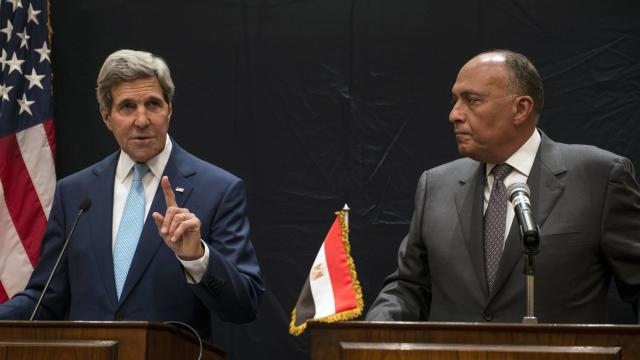 Kerry In Cairo For Talks With Egypt's New President