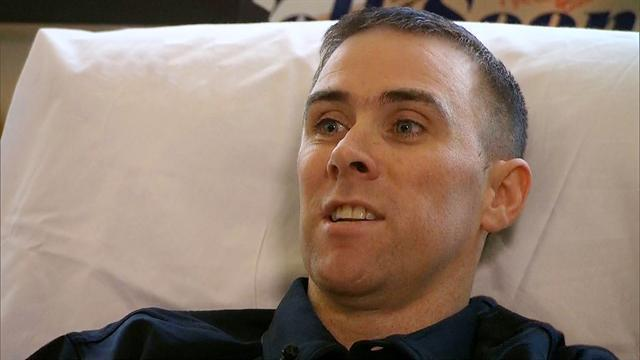 Wounded officer remembers gun battle with the Tsarnaev brothers